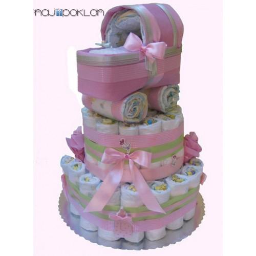 Torta od pelena - KOLICA ZA BEBE - Žensko