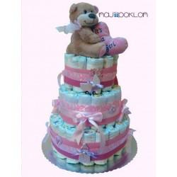 Torta od pelena na tri sprata - Za devojčicu