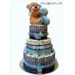 Torta od pelena na tri sprata - Za dečaka